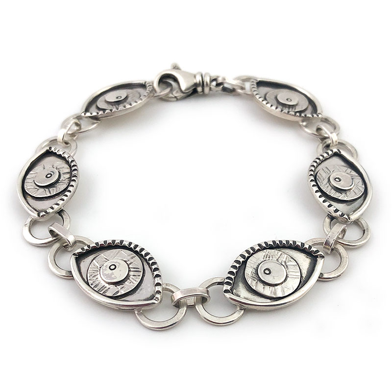 solid silver evil eye jewelry