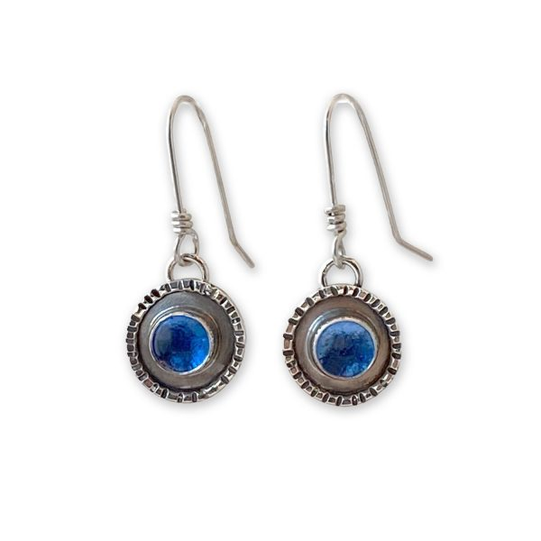 Handmade Glass and Sterling Silver Earrings