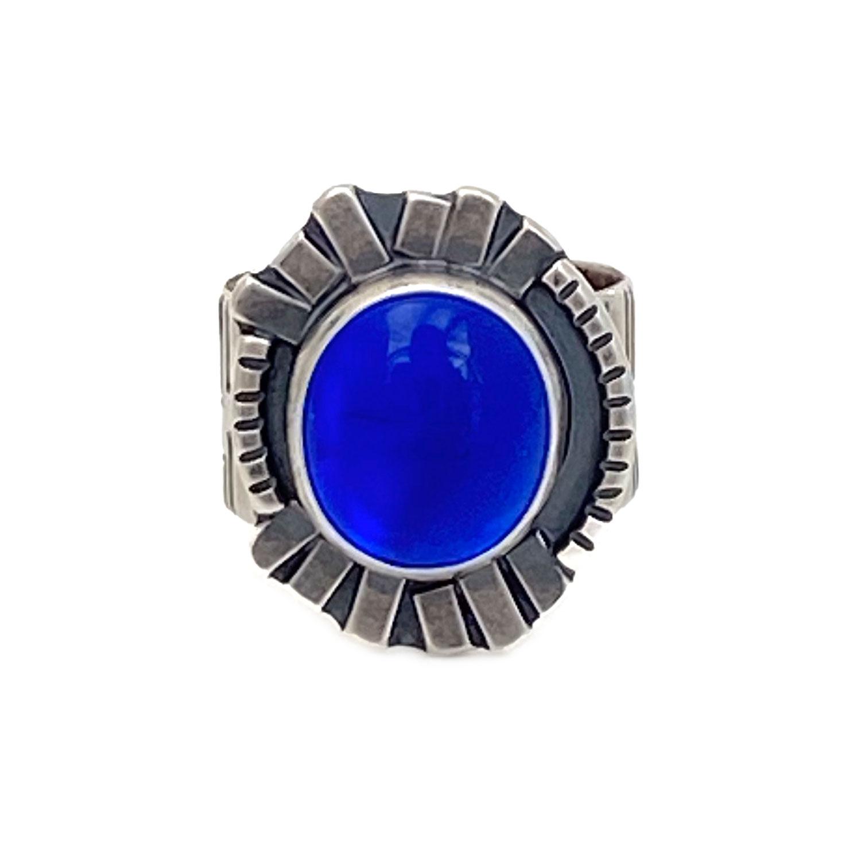 06a_blueglassevileyeringhandmade