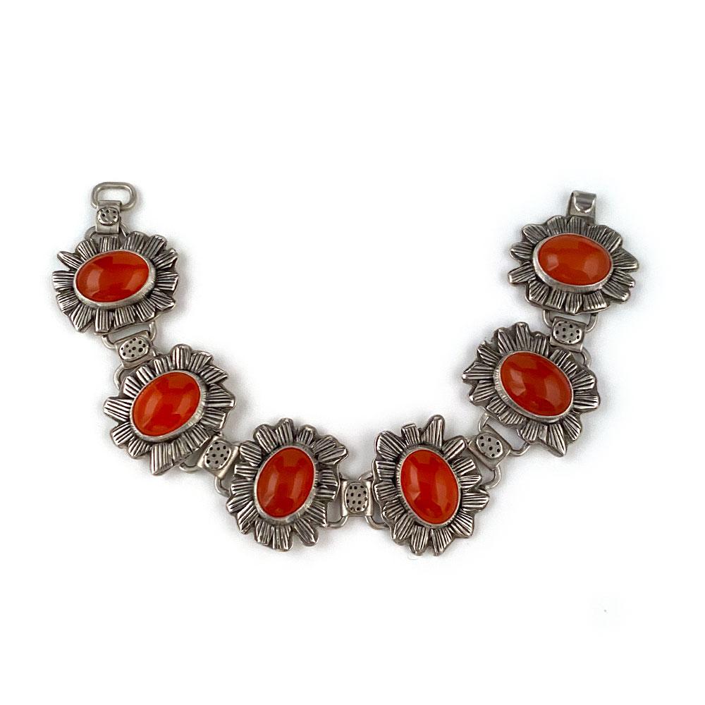 carnelian-bracelet-handmade-silver-art-jewelry