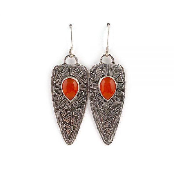 bohemian silver earrings
