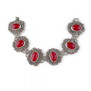 silver handmade statement bracelet