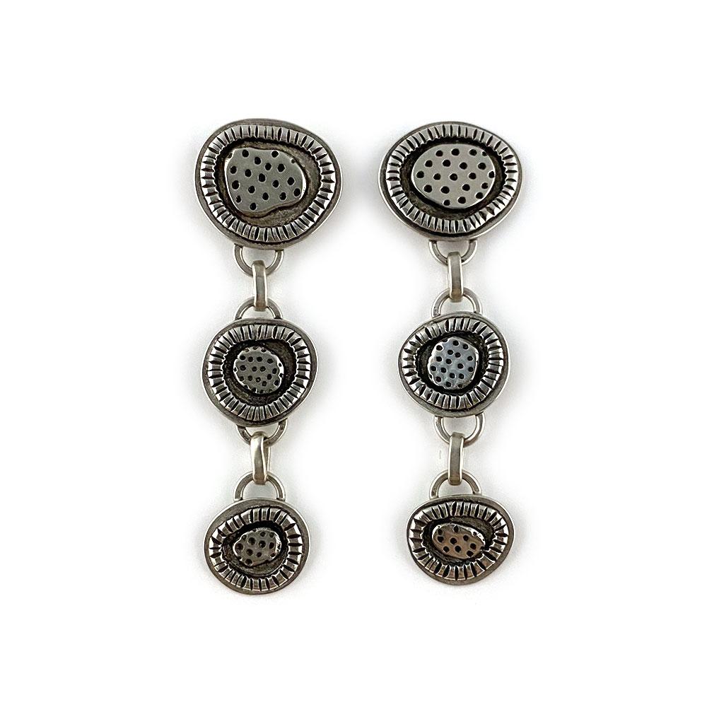 handmade silver dangle earrings