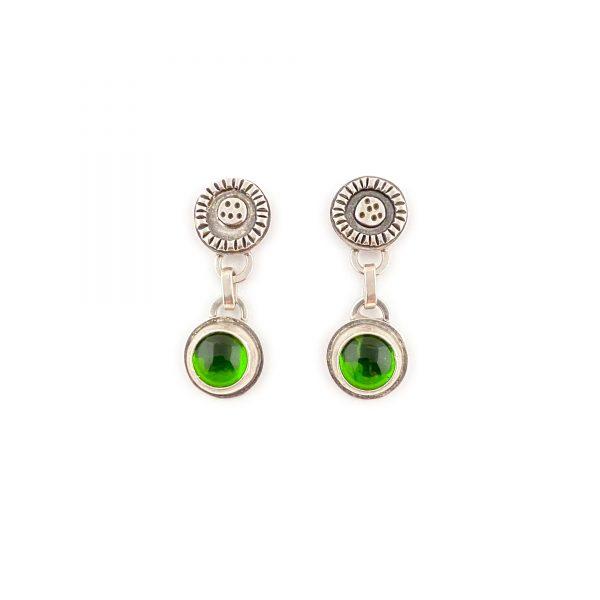 green christmas earrings