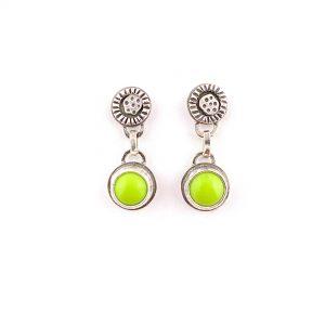 modern earrings lime green