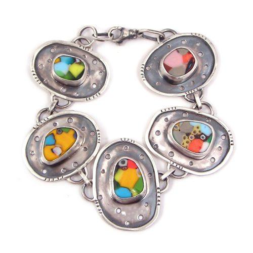 fused mosaic glass stones for custom jewelry